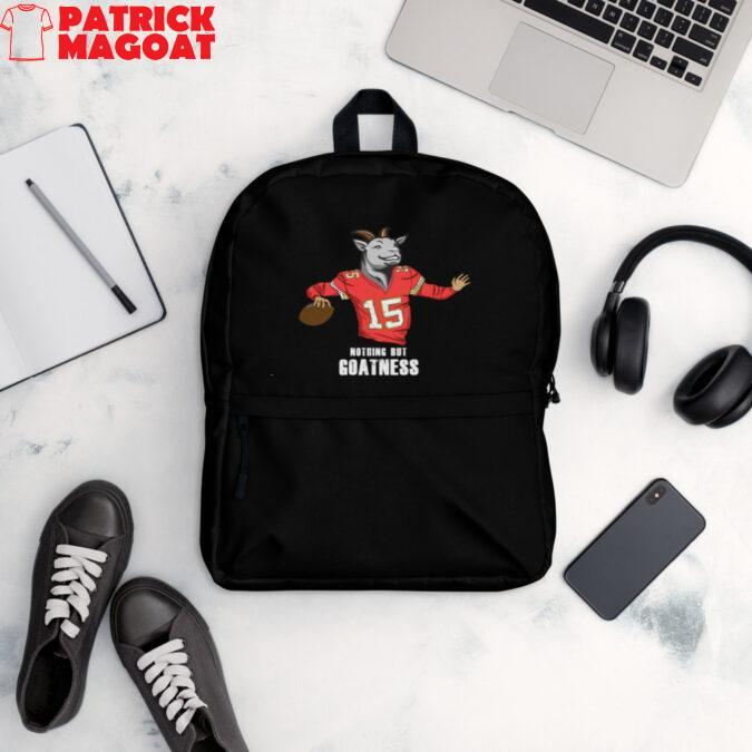 Patrick Mahomes Nothing But Goatness Backpack