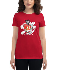 M-V-G.O.A.T. ( Mahomes MVP ) Women's short sleeve t-shirt